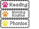 Neon Bright Paw Prints Classroom Basics Decor