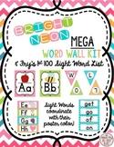 Chevron Neon Brights ABC Posters Headers Fry Sight Words Mega Kit