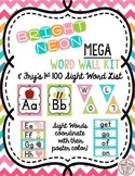 Chevron Neon Brights ABC Posters Headers Fry Sight Words Mega Kit