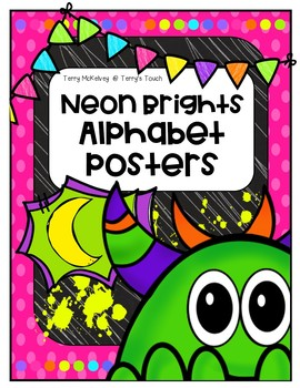 Neon Brights Alphabet Posters