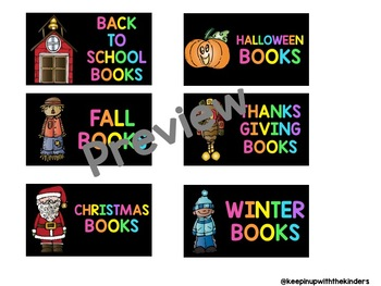 Neon Brights Classroom Library Labels Featuring Melonheadz