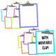 Neon Brights Clipboards Clipart