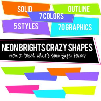 Neon Brights Crazy Shapes Trapezoids Set