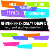 Neon Brights Crazy Shapes Trapezoids Set
