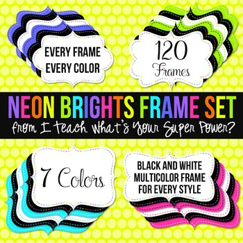 Neon Brights Digital Frames