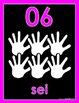 Neon Brights   Italian Numbers 1 - 20