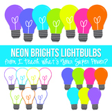 Neon Brights Lightbulbs Clipart
