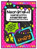Neon Brights Literacy First Sight Word Flip Book & Cards