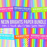 Neon Brights Mega Digital Paper Pack Volume 2