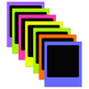 Neon Brights Photo Frames Set