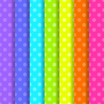 Neon Brights Polka Dot Paper Pack