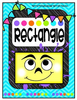 Neon Brights Silly Shapes Posters