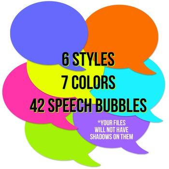 Neon Brights Speech Bubble Pack