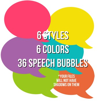 Basic Brights Speech Bubble Pack