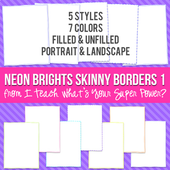 Neon Brights Rectangle Skinny Borders