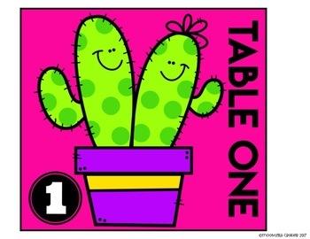 Neon Cactus Classroom Decor