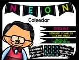 Neon Calendar