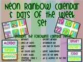 Neon Calendar & Days of the Week Set