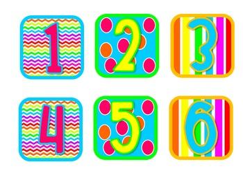 Neon Calendar & Days of the Week Set