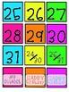 Neon Calendar Numbers