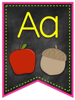 Neon & Chalkboard Alphabet Banner