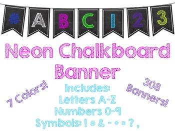 Neon Chalkboard Banner