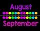Neon/Chalkboard Calendar Set