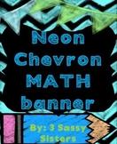 Neon Chalkboard Chevron Math banner