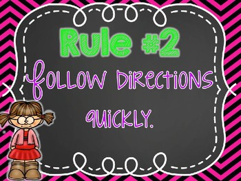 Neon Chalkboard Classroom Rules & Editable Version!