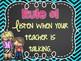 Neon Chalkboard Classroom Rules & Editable Version!