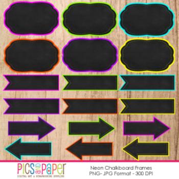 Neon Chalkboard Frames & Digital ELement