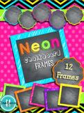 Neon Chalkboard Frames