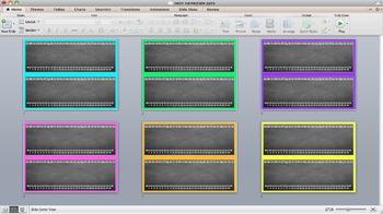 Neon Chalkboard Nameplate - Editable