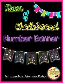 Neon & Chalkboard Number Banner