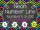 Neon Chalkboard Number Line 0-200!