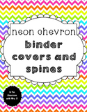 Editable! Neon Chevron Binder Covers and Spines