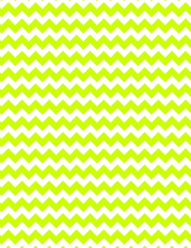 Neon Chevron Digital Papers and Frames for Work books, Cover Pages & Sellers