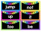 Neon Chevron High Frequency Words - TX Treasures First Grade