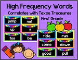 Neon Chevron High Frequency Words - TX Treasures First Grade