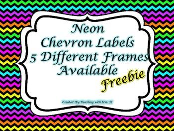 Neon Chevron Labels