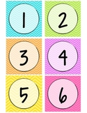 Neon Chevron Calendar Numbers - Large
