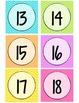 Neon Chevron Calendar Numbers - Large