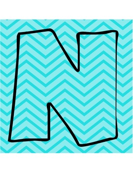 Neon Chevron NOISE Letters