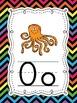 Neon Chevron Rainbow themed Alphabet ABC Posters