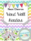 Neon Chevron Word Wall Headers