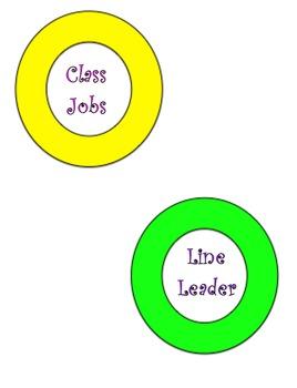 Neon Circles Class Jobs