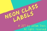 Neon Class Labels