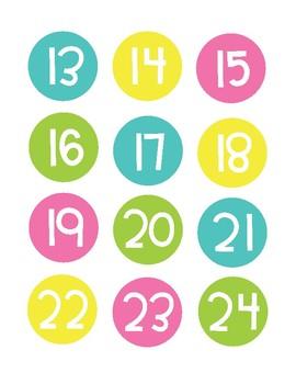 Neon Class Numbers 1-36