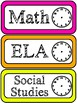 Neon Class Schedule Cards- Add your own time
