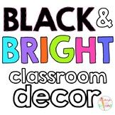 Neon Classroom Decor